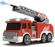 "Пожарен камион с водна помма - Играчка със звуков и светлинен ефект от серията ""Action"" - играчка"