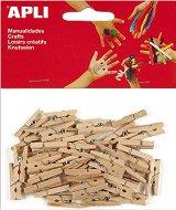 Натурални дървени щипки - Комплект от 45 броя с дължина 25 mm
