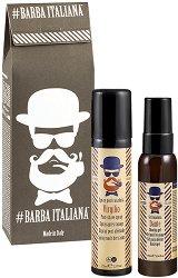 Подаръчен комплект за мъже - Barba Italiana - Гел за бръснене и успокояващ спрей за след бръснене -