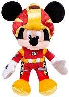 Мики Маус - Автомобилен състезател - Плюшена играчка -