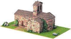 Църква  St. Pere d'Auira - Сглобяем модел от истински тухлички -
