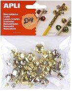 Коледни камбанки - Комплект от 40 броя с различен диаметър
