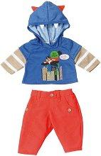"""Тениска с панталони - Boy Power - Дрехи за кукли от серията """"Baby Born"""" - играчка"""