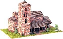 Църква  St. Joan de Caselles - Сглобяем модел от истински тухлички -