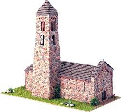 Църква  St. Climent Coll de Nargo - Сглобяем модел от истински тухлички -