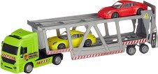 """Автовоз с 2 колички - Porshe - Детски комплект за игра от серията """"City team"""" - играчка"""