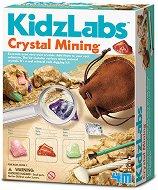 """Мина за кристали - Детски образователен комплект от серията """"Kidz Labs"""" - творчески комплект"""