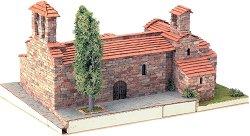Църква St. Pere d'Egara - Сглобяем модел от истински тухлички -