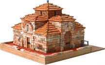 Църква  St. Miquel d'Egara - Сглобяем модел от истински тухлички -