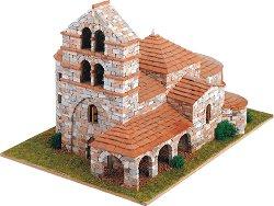 Църква St. Salvador de Cantamuda - Сглобяем модел от истински тухлички -