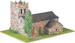 Църква St. Marti Vell - Сглобяем модел от истински тухлички -