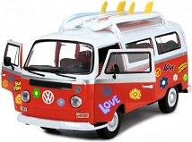 """Летен ван с 2 сърфа - Volkswagen Bulli - Детска кола със стикери за декориране от серията """"City team"""" - играчка"""