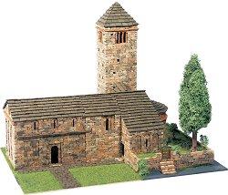 Църква St. Pedro Larrede - Сглобяем модел от истински тухлички -