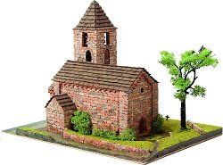 Църква St. Maria de Coll - Сглобяем модел от истински тухлички -