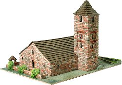 Църква St. Joan de Boi - Сглобяем модел от истински тухлички -