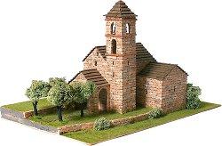 Църква St. Feliu de Barruera - Сглобяем модел от истински тухлички -