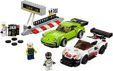 """Състезание между Porsche 911 RSR и Porsche 911 Turbo 3.0 - Детски конструктор от серията """"LEGO: Speed Champions"""" -"""
