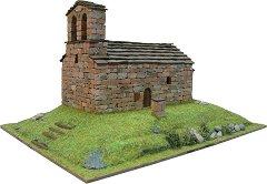 Църква St. Quirc de Durro - Сглобяем модел от истински тухлички -