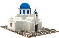 Православна църква  Agios Nikolaos - Сглобяем модел от истински тухлички -