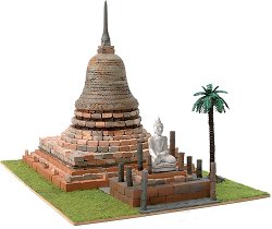 Будистка пагода Wat Sa Si - Сглобяем модел от истински тухлички -