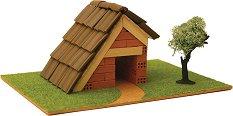 """Къща - Детски сглобяем модел от истински тухлички от серията """"K.I.D."""" -"""