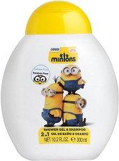 """Minions Shower gel & Shampoo 2 in 1 - Детски душ гел и шампоан 2 в 1 от серията """"Миньоните"""" - продукт"""