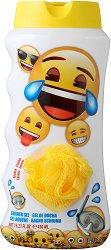 Детски комплект от душ гел и гъба за баня - Emoji -
