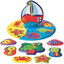 Детски пъзел за баня - Лодка - играчка