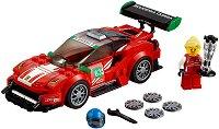 """Спортен автомобил - Ferrari 488 GT3: Scuderia Corsa - Детски конструктор от серията """"LEGO: Speed Champions"""" - количка"""