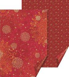 Двустранен картон за скрапбукинг - Red Crystals