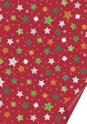 Двустранен картон за скрапбукинг - Christmas Star - Размери 50 х 70 cm
