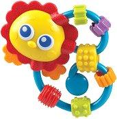 Дрънкалка с дъвкалка - Лъвче - За бебета над 3 месеца - играчка