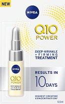 """Nivea Q10 Power Deep-Wrinkle + Firming Treatment - Ампула за лице против бръчки от серията """"Q10 Power"""" - крем"""