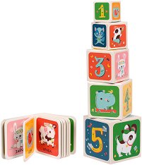 Животните - комплект от книга и кубчета за игра и учене -