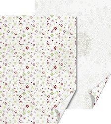 Двустранен картон за скрапбукинг - Звезди и снежинки