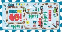 Влакчето Томас - Детски пъзел с меки части - тип килимче -