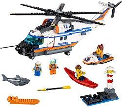 """Тежкотоварен хеликоптер за спасителни операции - Детски конструктор от серията """"LEGO: City"""" -"""