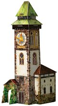 Часовникова кула - Картонен 3D модел за сглобяване - играчка