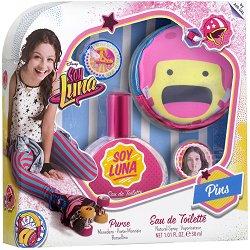 """Детски подаръчен комплект - Soy Luna - Парфюм, портмоне и значки от серията """"Soy Luna"""" -"""