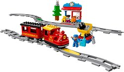 """Влакова композиция с релси - Детски конструктор от серията """"LEGO Duplo"""" -"""