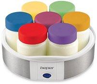Уред за приготвяне на кисело мляко - Комплект със 7 стъклени бурканчета -