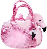 Фламинго в чантичка - Плюшена играчка -