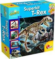 """Разкопки - Скелет на Тиранозавър Рекс - Образователен комплект от серията """"I am a Genius"""" - играчка"""