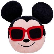 Плюшена възглавница - Мики Маус с очила - играчка