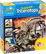 """Разкопки - Скелет на Трицератопс - Образователен комплект от серията """"I am a Genius"""" - играчка"""