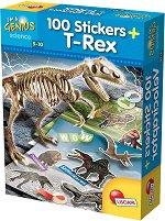 """Реконструирай скелет на Т-Рекс - Образователен комплект със стикери и плакати от серията """"I am a Genius"""" - играчка"""