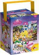Снежанка и седемте джуджета - Двулицев пъзел с едри елементи и 6 цветни флумастера - пъзел