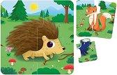 """Животните в гората - Комплект от 8 образователни пъзела от серията """"Carotina Baby"""" -"""