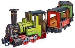 Влак - Картонен 3D модел за сглобяване -