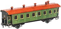 Пътнически вагон - Картонен 3D модел за сглобяване -